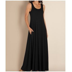 Soft Surroundings black Santiago maxi dress